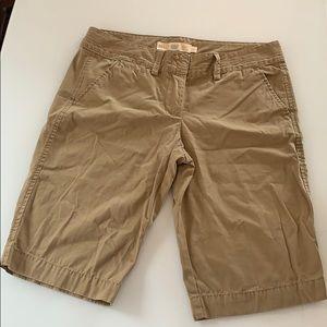 J Crew Tan Chino, City Fit Walking Shorts!